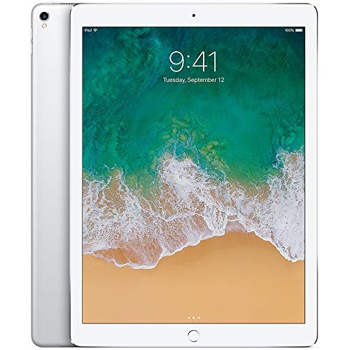 Apple iPad Pro (2017) 12.9in 64GB Wi-Fi Tablet, Silver (Renewed)