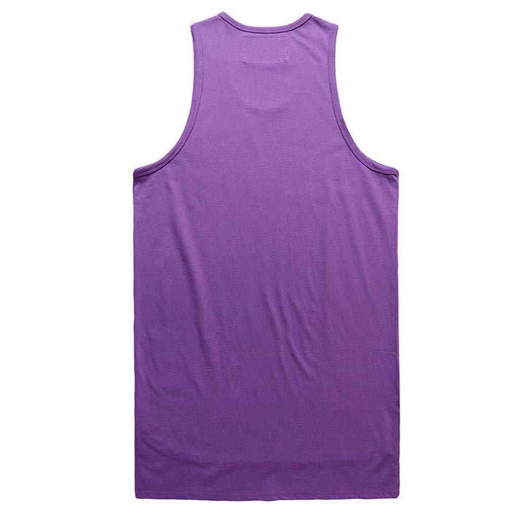 Holata Mens Shirt Tank Top Irregularity Casual Sport Pure Color Sleeveless Shirt Tee Blouse Vest