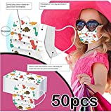 50PCS Disposable Face Cover Children, Cartoon Anti-Particle Anti-droplet Anti-pollen Breathable 3-Ply Anti-Dust Face…
