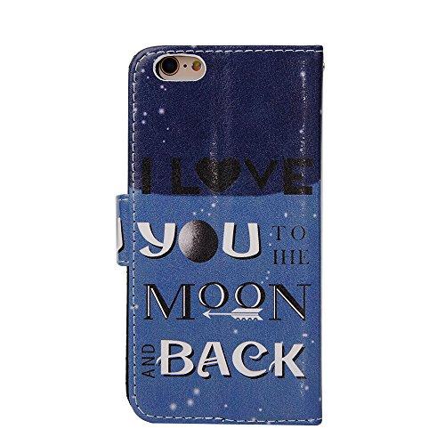 "MOONCASE iPhone 6 Case Leder Tasche Flip Case Schutzhülle Etui Kartenfächer Hülle Schale Cover für iPhone 6 (4.7"") -ZD01"