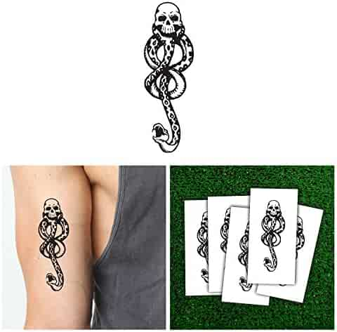 Harry Potter Death Eaters Dark Mark Temporary Tattoos (5pcs) for Cosplay Accessories and Dancing Party