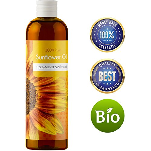 100% Pure Sunflower Seed Oil Anti-Aging Natural Skin Care and Hair Conditioner...