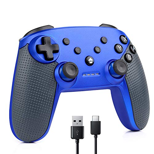 CHENGDAO Switch Controller Wireless Compatible Nintendo Switch Pro Controller Console,PS3,Android,Windows PC(XP/7/8/10) - Blue