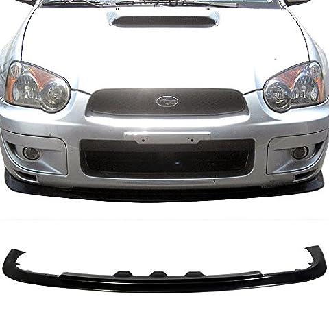 Front Bumper Lip Fits 2004-2005 Subaru Impreza RS TS | STI STYLE FRONT LIP Black PP Front Lip Finisher Under Chin Spoiler Add On by IKON - Impreza Sport Wagon