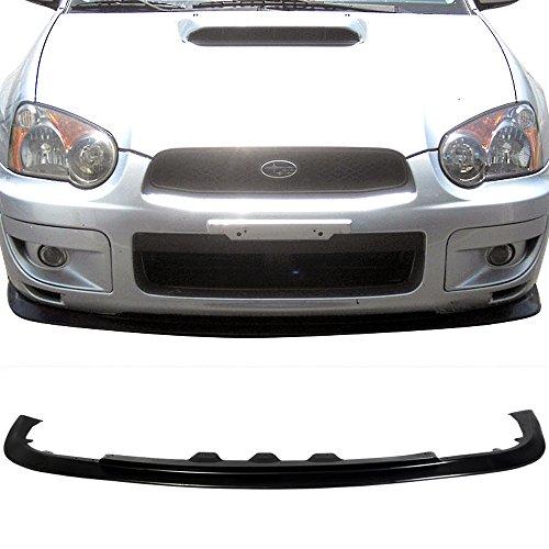 Front Bumper Lip Fits 2004-2005 Subaru Impreza RS TS | STI STYLE FRONT LIP Black PP Front Lip Finisher Under Chin Spoiler Add On by IKON MOTORSPORTS
