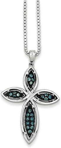 925 Sterling Silver Rhodium Plated Diamond Cut Open back Charm Pendant