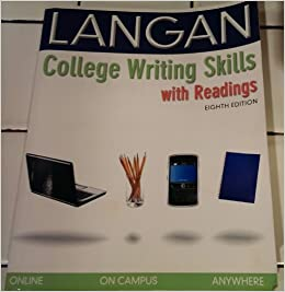 langan college writing skills Presentation on theme: an introduction to writing— presentation transcript: 1  an introduction to writing source: john langan 'college writing skills with.