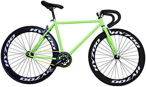 Fixie Helliot Brooklyn H36 - Bicicleta Fixie, Cuadro de Acero, Frenos V-Brake, Horquilla Acero y Ruedas de 26