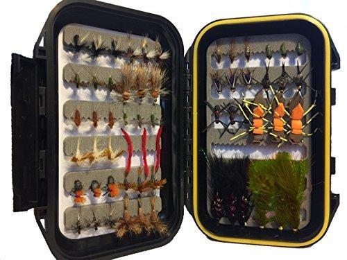 Wild Water Most Popular Flies Mini-Mega Assortment, 60 Flies with Small Fly Box