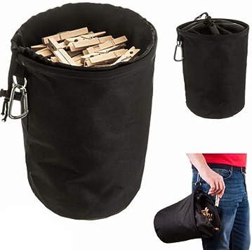 de Colgar CampTeck U6837 Large Bolsa Para Pinzas de la ropa Duradera Resistente al Agua Negro