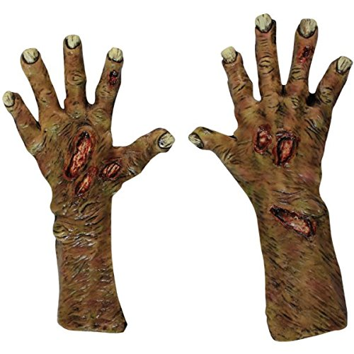[GHOULISH Zombie Undead Hands (Large Gloves)] (Rotten Flesh Men's Costumes)
