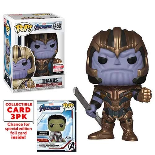 Funko Pop! Marvel Avengers Thanos (Endgame) with Collective Card EE Exclusive