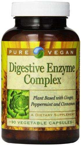 Pure Vegan Digestive Enzyme Complex Vegetarian Capsules, 90 Count
