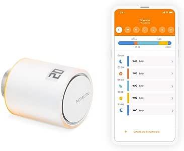 Netatmo Valvulas Termostaticas Wifi Inteligente Módulo adicional para el Termostato Intelligente y para el Paquete para calefacción colectiva, NAV -ES