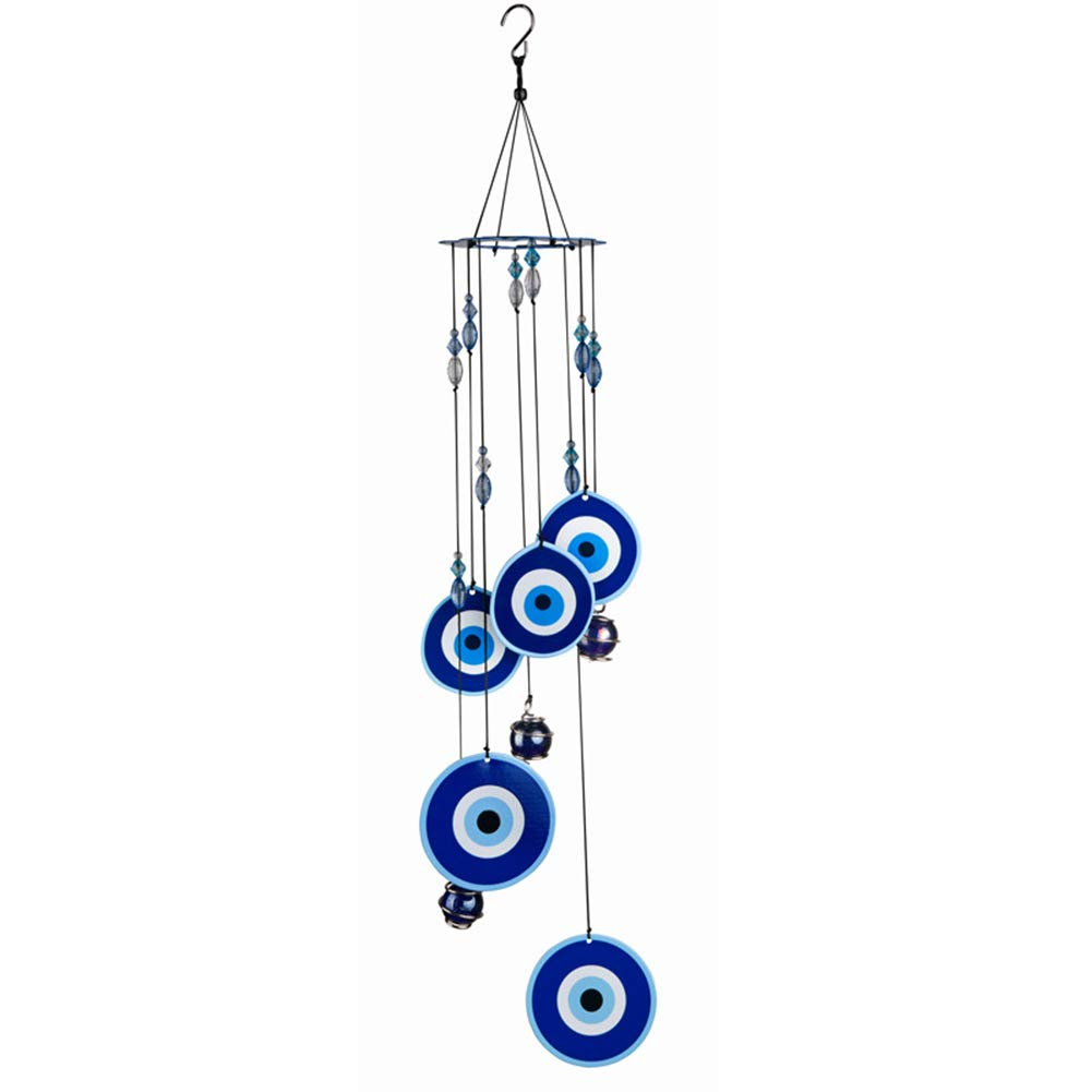 COTO Wind Chimes for Home Garden Decoration Quality Evil Eye Wall Hanging Ornament Gift or to Keep for Your own Patio, Porch, Garden, or Backyard