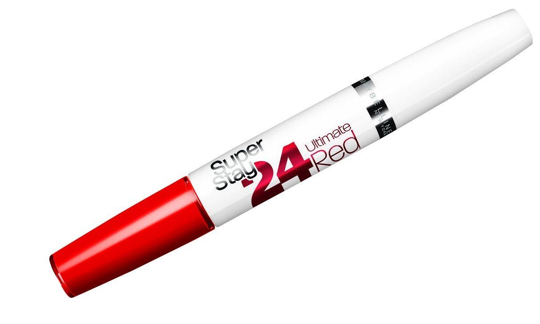 Maybelline New York Make-Up Lippenstift Superstay 24h Color liquid Lipstick Ruby Rush / Knalliges Korallrot mit 24 Stunden Halt, 1 x 5 g 3600531123468