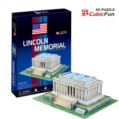 3D Puzzle Paper Model Lincoln Memorial 41pcs by CubicFun