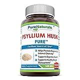 Pure Naturals Psyllium Husk 500 Mg, 500 Count