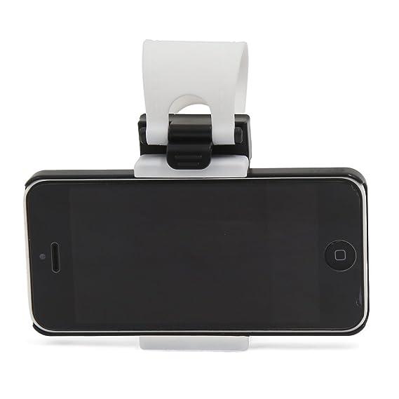Amazon.com: eDealMax Blanca Universal Banda de silicona Para automóvil Titular Volante del GPS del teléfono del soporte de la horquilla: Electronics