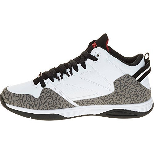 Fubu Men's Tiger Mid Athletic Shoe, White (8.5 US)