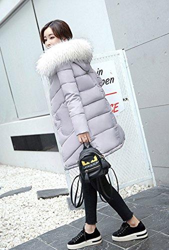 Grigio Donne Piumino Bestjuly Parka Trench Outwear Delle Cappotto Lungo Inverno qxz1fXS
