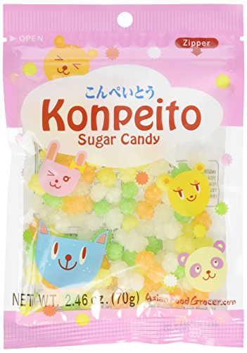 Konpeito Sugar Candy 2.46 ounce 70 gram ~100 pieces
