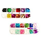 24 Color/set 3D Butterfly Nail Glitter Sequins