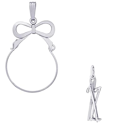 Cross Country Skis Charm Charms for Bracelets and Necklaces