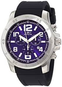 Invicta Men's 1914 Specialty Chronograph Blue Dial Blue Polyurethane Watch