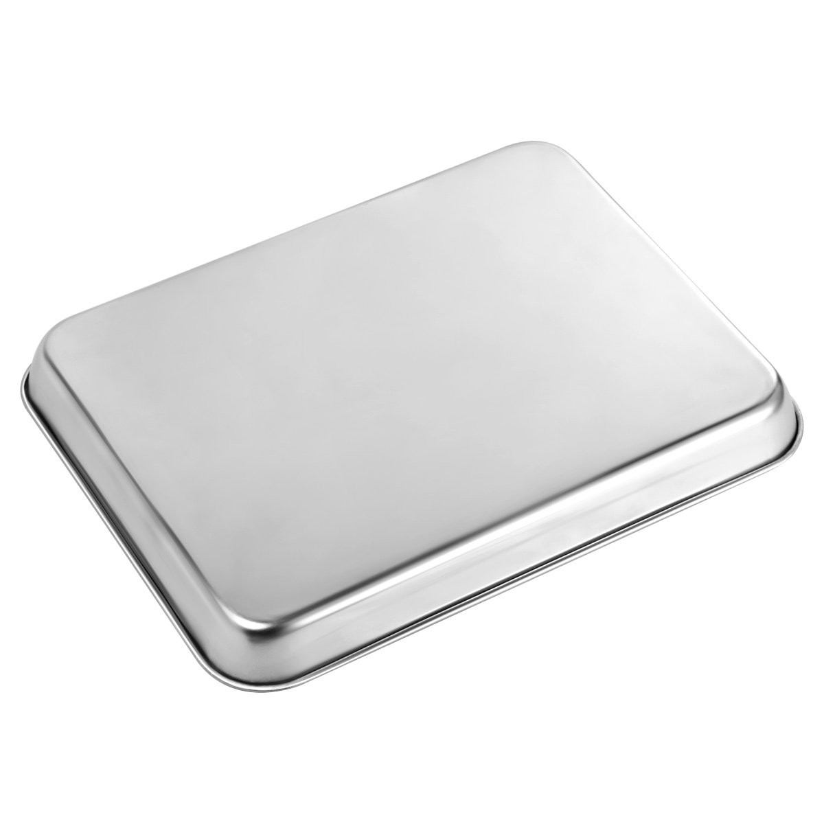 Stainless Steel Baking Sheets, HKJ Chef Baking Pans & Cookie Sheets for Oven & Mini Toaster Oven Tray Pans & Non Toxic & Healthy,Superior Mirror & Easy Clean by HKJ Chef (Image #6)