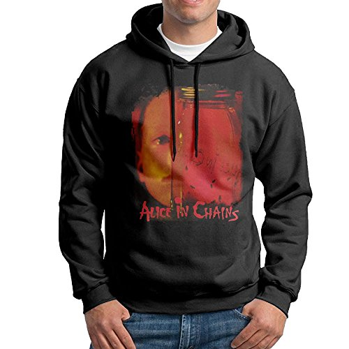 (Man's Youth Alice in Chains Jar of Flies Long Sleeve Custom Sweatshirts Hooded Small Black)