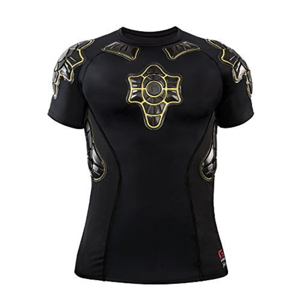 G-Form Pro-X Short Sleeve Compression Shirt, Black/Yellow, Small