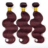 Best BP Brazilian Virgin Hairs - Barroko Hair Grade 7A Burgundy Hair Extensions Body Review