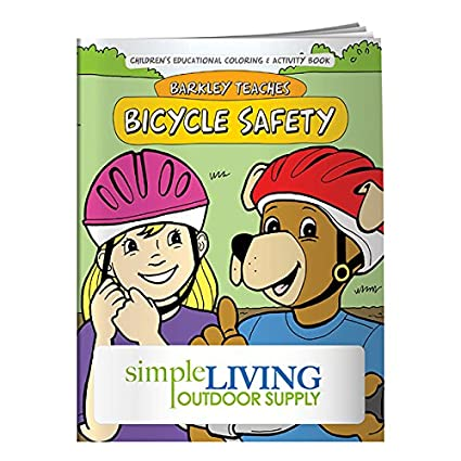 Amazon com: BIC Graphic Colorng Book: Bicycle Safety White