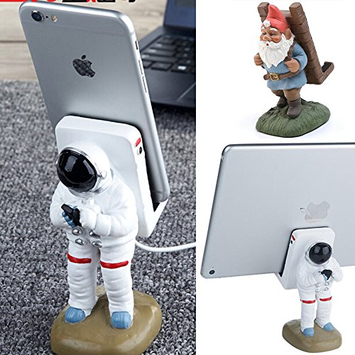Durable Astronaut / Santa Claus Style Lazy Mobile Cell Phone Stand For Desk Bracket Desktop Stand iPhone Holder Universal iPhone X 8 7 6s Plus Samsung S7 S8 iPad other Tablet Mount (Astronaut Style) from Motor-acc
