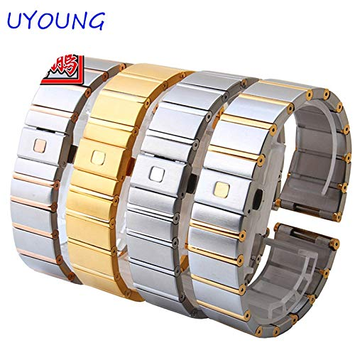 Quality Solid Stainless Steel Band 18mm 23mm 25mm Grace Rose Goldbracelet for Constellation/Double Eagle Strap