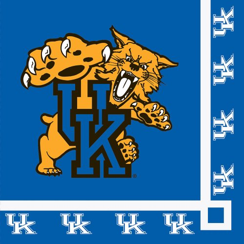Kentucky Wildcats Beverage Napkins (20) Party Accessory (Party Supplies Uk)