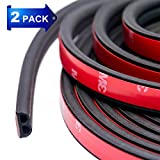 weather seal window - 32Ft Long Self Adhesive Automotive Rubber Weather Draft Seal Strip Weatherstrip For Car Window Door Soundproofing Engine Cover(B Shape Total 2Pack 10M)