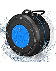 PEYOU Bluetooth 5.0 Shower Speaker IPX7 Waterproof, Portable Bluetooth Speaker BTS300 Wireless Speaker with Stereo Sound and Bass, Suction Cup & Sturdy Hook for Home Outdoor Travel