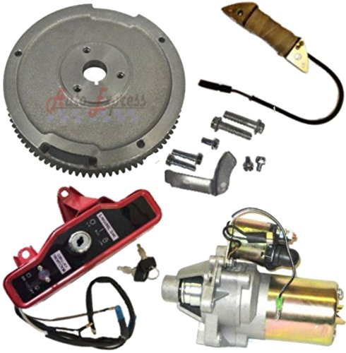NEW ELECTRIC START KIT FLYWHEEL STARTER MOTOR INGNITION HONDA GX340 11HP GX390 13HP Electric Start Motor