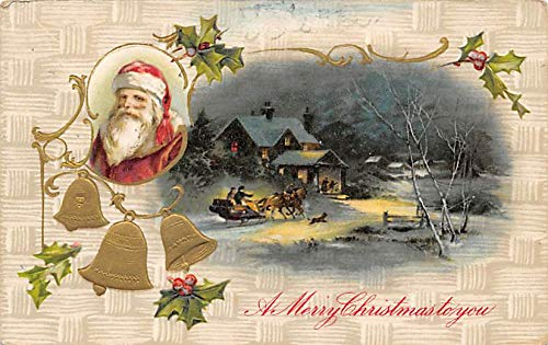 Santa Claus Post Card Old Antique Vintage Christmas Postcard Artist Ethel Dewees ()