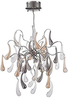 """Possini Euro Fabrizio 22"""" Wide Contemporary Glass Pendant"""