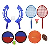 5-Game Beach Combo Set - Shuttle Smash, Jai Alai, Catch Mitts, Football & Flying Disc - Ages 5 and Up