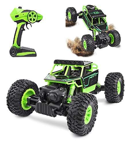 Hi-Tech Kids Control Remote Car with 2.4GHz Radio, 1:18 Scale High Speed Rock Crawler for Kids and Adult,Present for Boys/Teens (Green)