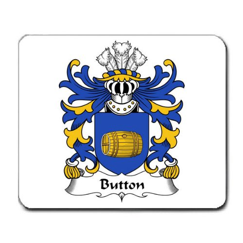Button of Worlton Glamorgan Family Crest Coat of Arms Mouse Pad