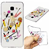 Qiaogle Phone Case - Soft TPU Silicone Case Cover Back Skin for Samsung Galaxy A5 (2016) / A5 (2016) Duos / A510 (5.2 inch) - HC10 / Lip gloss + eyebrow pencil