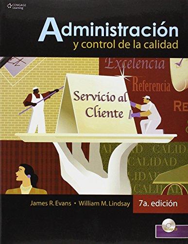 Descargar Libro Administracion Y Control De Calidad 7/e James Evans