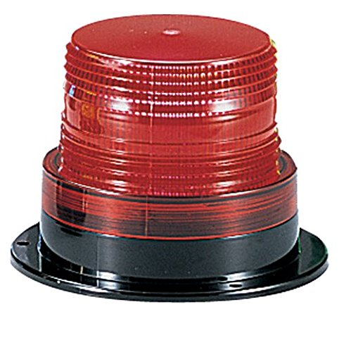 Federal Signal LP6-120R Streamline Low Profile Mini Strobe Light, Surface Mount, 120 VAC, Red