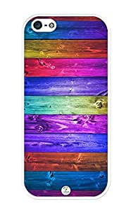 linJUN FENGiZERCASE Dark Colorful Wood Pattern iPhone 5 case - Fits iPhone 5, iPhone 5S T-Mobile, AT&T, Sprint, Verizon and International