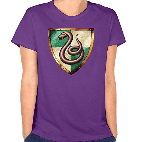 Roy Women's Harry Potter Slytherin Logo Polo Shirt T-Shirt Purple